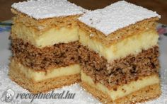See related links to what you are looking for. Hungarian Desserts, Hungarian Cake, Hungarian Recipes, Ital Food, Homemade Sweets, Croatian Recipes, Sweet Cookies, Sweet And Salty, Fun Desserts