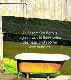 Magnificent Magnesium Sulfate- 14 Green & Healthy Uses for Epsom Salts Epsom Salt Foot Soak, Epsom Salt Uses, Epsom Salt Bath, Health Articles, Health Tips, Epsom Salt For Hair, Salt Hair, Heated Foot Spa, Epsom Salt Cleanse