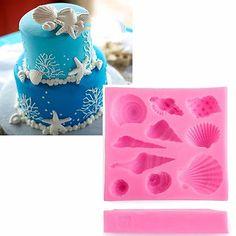3D-Starfish-Sea-Shells-Mould-Cake-Chocolate-Sugarcraft-Mold-Decor-DIY-Tool