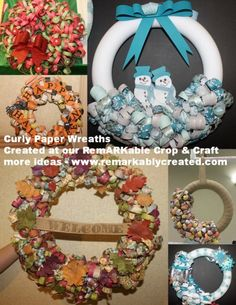 We had our semi-annual RemARKable Hot retreat this past weekend and the hot project was Curly paper wreaths. Here are some amazing takes on these project to inspire. For directions you can view th...