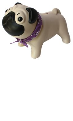 Puggy bank just makes me smile barker and meowsky puggies who doesnt want a pug piggy bank thecheapjerseys Image collections
