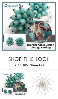 """""""Murano Glass Vintage Earrings"""" by renaissance-fair ❤ liked on Polyvore featuring vintage"""