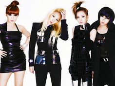 2NE1 Kpop band. Korean Fashion.