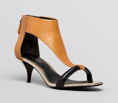 These open-toe kitten heels are great for spring and summer.