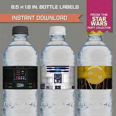 star wars bottle labels