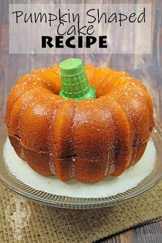 Pumpkin Shaped Cake | Through the Cooking Glass Pumpkin Recipes, Cake Recipes, Dessert Recipes, Holiday Desserts, Holiday Recipes, Holiday Foods, Pumpkin Shaped Cake, Candy Corn Cookies, Halloween Treats