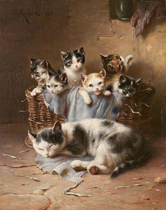 by Carl Reichert (1836–1918), Austrian animal painter.