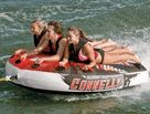 Three Person Tube Towables  Three's not a crowd on a three-person towable tube…it's an awesome time! Whip across the water, and fly higher than ever, knowing you have your buddies by your side the entire time. We offer a fantastic selection of three-person tubes that are sure to please the thrill seeker in anyone.  A three-person water tube will lead to endless crazy rides across the water all summer. And, once you take a spin on one once, you'll want to go again, again, and again!