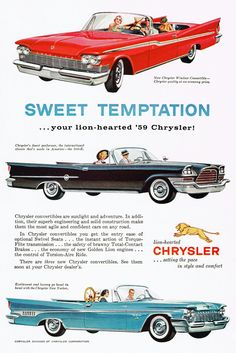 1959 Chrysler Windsor, 300-E & New Yorker