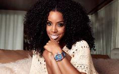 Download wallpapers Kelly Rowland, 4K, American singer, smile, portrait, brunette, beautiful woman, American celebrities, USA