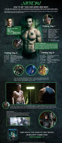 Looking to get that super-hero body? Men's Fitness breaks down #Arrow's Oliver Queen workout.