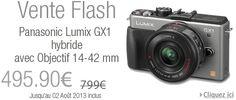 Vente flash Amazon sur l'hybride Panasonic Lumix GX1 + objectif 14-42mm