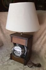 Rare Vintage Antique Electric Meter Table Lamp Steampunk Lamps