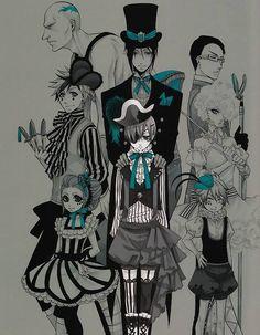 Yana Toboso, Kuroshitsuji, Black Butler Artworks William T. Grell Black Butler, Black Butler Kuroshitsuji, Manga Art, Manga Anime, Anime Art, Anime Kuroshitsuji, Undertaker, Fnaf, My Little Pony
