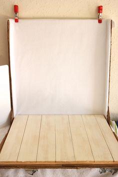 love this DIY photo area