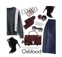 """Beautifulhalo"" by mada-malureanu ❤ liked on Polyvore featuring Tiffany & Co., MSGM, Ralph Lauren, Proenza Schouler, Chanel, Bulgari, oxblood, polyvoreeditorial and bhalo"