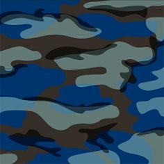 Painted by Andy K., the Blue Camo wall mural from Murals Your Way will add a distinctive touch to any room. Camoflauge Wallpaper, Camo Wallpaper, Boys Hunting Bedroom, Green Boys Room, Camo Rooms, How To Paint Camo, Murals Your Way, Background Images Wallpapers, Backgrounds
