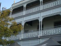 Above: the iron lace on the Regatta Hotel on the Brisbane River.