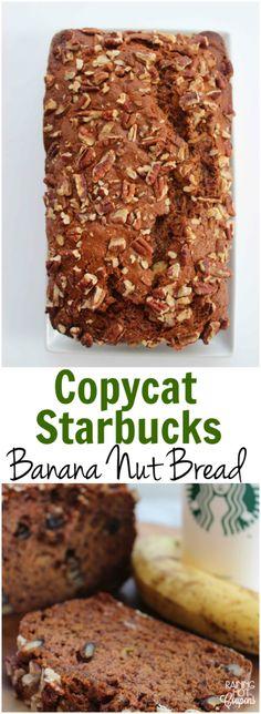 Copycat Starbucks Banana Nut Bread - Raining Hot Coupons
