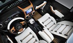 White Jeep interior! So swag!!!!!
