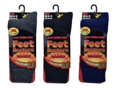 Herren Feet Heaters 5 X Wärmer als Wollsocken !