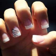 french tip cute
