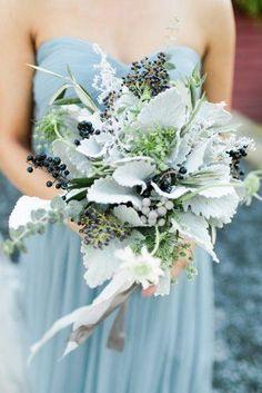 New bridal flowers bouquet blue dusty miller Ideas Purple Wedding Bouquets, Blue Bouquet, Bride Bouquets, Bridal Flowers, Bouquet Wedding, Wedding Flower Guide, Floral Wedding, Wedding Colors, Sage Wedding