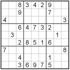 Free Sudoku Puzzles - Easy Sudoku Puzzle #05 ; loved playing this for fun in math class