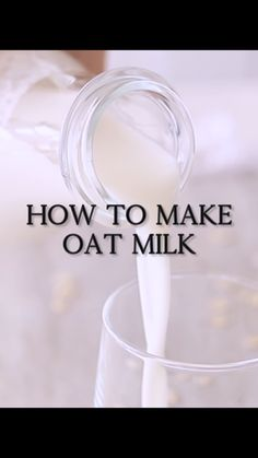 How to make oat milk that's not slimy! So creamy and smooth. A delicious vegan milk. Ready in less than 30 seconds! How to make oat milk that's not slimy! So creamy and smooth. A delicious vegan milk. Ready in less than 30 seconds! Vegan Recipes Videos, Raw Vegan Recipes, Milk Recipes, Detox Smoothie Recipes, Detox Recipes, Plant Based Diet, Plant Based Recipes, Matcha, How To Make Oats