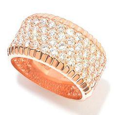 EFFY 14K Gold 1.47ctw Diamond Four-Row Band Ring