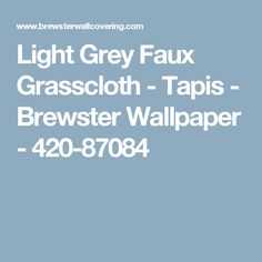 Light Grey Faux Grasscloth - Tapis - Brewster Wallpaper - 420-87084