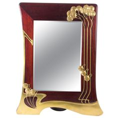 "Orivit / Walter Scherf Germany Art Nouveau ""Whiplash"" Wall Mirror  c. 1900"