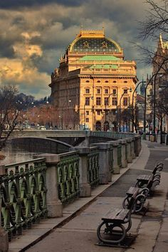 Prague, Czech Republic-View of the National Theater.***Praha pohled na Národní divadlo*** Beautiful Places In The World, Most Beautiful Cities, Places To Travel, Places To See, Europe Centrale, Visit Prague, Prague Travel, Prague Czech Republic, Heart Of Europe