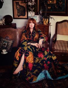 edenliaothewomb Florence Welch photographed by David Burton for ELLE Italia Oct 2017 I have never gasped as loudly as I did just now Estilo Florence Welch, Florence Welch Style, Florence Welch Hair, Boho Chic, Bohemian Style, Boho Hippie, Florence Welsh, David Burton, Florence The Machines
