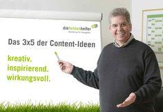 Das 3x5 der Content-Ideen: kreativ, inspirierend, wirkungsvoll. http://www.agitano.com/content-und-marke-sind-in-der-marketingkommunikation-entscheidend/93772