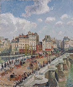 Title: The Pont-Neuf, 1902  Artist: Camille Jacob Pissarro  Location: Museum of Fine Arts Budapest Hungary