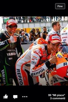 If anyone else had sent this then clearly it was just a fun photo. But seeing as Rossi sent it...then is his mind set on 1st place at Laguna?