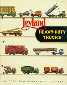 Descriptive Booklet - Leyland Motors, Motor Trucks, 1955