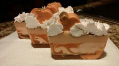 Spicy Frosted Pumpkin soap.  Smells and feels so good!