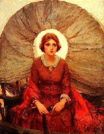 """""""Madonna of the Prairie"""" -- 1921 -- W. Koerner -- American (born in Prussia) Oil on canvas -- The Buffalo Bill Center of the West -- Cody, Wyoming Westerns, La Madone, Religion, Our Lady, American Art, American Modern, American History, Poster Size Prints, Vintage Posters"""