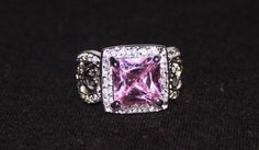 'Pink Kunzite 925 Sterling Silver Ring' is going up for auction at 12pm Tue, Oct 23 with a starting bid of $12.