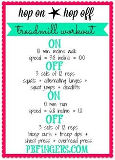 Hop On Hop Off Treadmill Workout