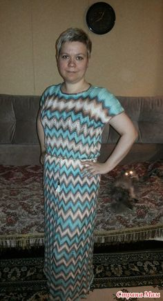 Летнее платье от Миссони спицами