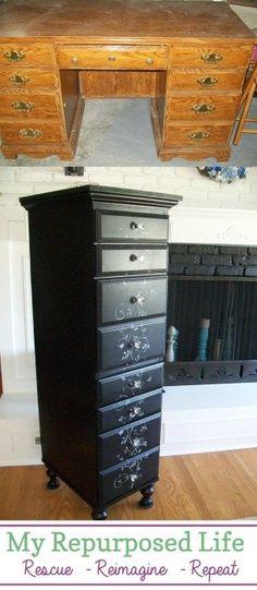 Repurposed Desk in die Brust, diy furniture redo,