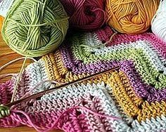 How to Crochet a Zigzag Throw with only chain and single stitches?! I might think about it - sounds easier that most of the zig zag patterns I've seen!