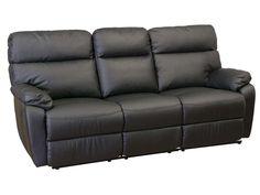Canapé relaxation 3 places NASH coloris noir prix promo Canapé Conforama 599.00 € TTC au lieu de 899 €