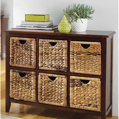 "For Living Verona 6-Drawer Wicker Chest.  On sale for $149.99 at Canadian Tire.  (50% off).    Dimensions: 39 3/8"" x 14.5"" x 31 3/4"" H"