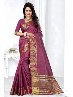 Mesmerizing Shinnig Mulberry Purple Silk saree