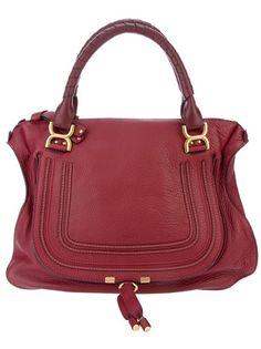 6dc5c02ae4f Burgundy leather Chloe Marcie Bag
