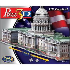Puzz 3D US Capitol Building 3-D Puzzle - Winning Solutions - Puzz 3D - Puzzles at Entertainment Earth